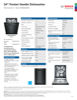 Bosch SHP865WD6N Specification Sheet - 1