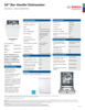 Bosch SHXM4AY52N Specification Sheet - 1