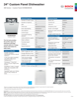 Bosch SHVM63W53N Specification Sheet - 1