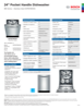 Bosch SHPM78W55N Specification Sheet - 1