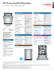 Bosch SHS863WD5N Specification Sheet - 1