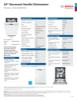 Bosch SHEM63W52N Specification Sheet - 1