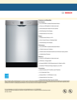 Bosch SHEM3AY55N Specification Sheet - 1