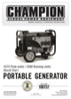 Champion Power Equipment Model 100157 Owner
