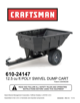 Craftsman 12.5 cu. ft. Poly Swivel Cart Owner