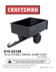 Craftsman 16 cu. ft. Steel Swivel Dump Cart Owner