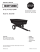 Craftsman 17 Cu. Ft. Steel Dump Cart Owner