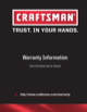 Craftsman 26 in. Wide 3-Drawer Standard Duty Ball-Bearing Top Chest - Black Manufacturer