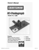 Craftsman Deluxe Router Pantograph Owner