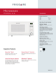 Frigidaire FFCM1134LW Product Specifications Sheet - 1