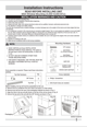 Frigidaire FFRA0811Q1 Installation Instructions - 1