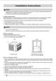 Frigidaire FFRH0822R1 Installation Instructions - 2