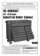 Harbor Freight Tools 44 in. 13 Drawer Glossy Red Industrial Roller Cabinet Product manual - 1