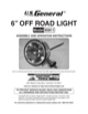 Harbor Freight Tools 6 In Off_Road Light System Product manual - 1