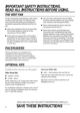 Hotpoint RVM5160DHCC Use & Care Manual - 8