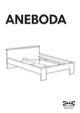 IKEA ANEBODA BED FRAME FULL WHT Assembly Instruction - 1