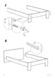 IKEA ANEBODA BED FRAME FULL WHT Assembly Instruction - 8