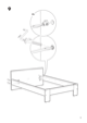 IKEA ANEBODA BED FRAME FULL WHT Assembly Instruction - 9