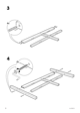 IKEA DALSELV BED FRAME FULL/DOUBLE Assembly Instruction - 6