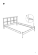 IKEA DALSELV BED FRAME FULL/DOUBLE Assembly Instruction - 9