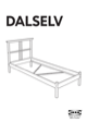 IKEA DALSELV BED FRAME TWIN Assembly Instruction - 1