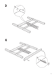 IKEA DALSELV BED FRAME TWIN Assembly Instruction - 5