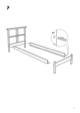 IKEA DALSELV BED FRAME TWIN Assembly Instruction - 7
