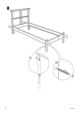 IKEA DALSELV BED FRAME TWIN Assembly Instruction - 8