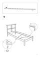 IKEA DALSELV BED FRAME TWIN Assembly Instruction - 9