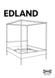 IKEA EDLAND 4 POSTER BED FULL DOUBLE Assembly Instruction - 1