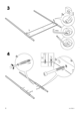 IKEA EDLAND 4 POSTER BED FULL DOUBLE Assembly Instruction - 6
