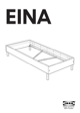 IKEA EINA BED FRAME TWIN Assembly Instruction - 1