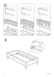 IKEA EINA BED FRAME TWIN Assembly Instruction - 6