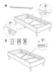 IKEA EINA BED FRAME TWIN Assembly Instruction - 7