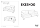IKEA EKESKOG SOFA BED FRAME Assembly Instruction - 1