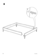 IKEA ENGAN BED FRAME FULL DOUBLE Assembly Instruction - 10