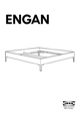 IKEA ENGAN BED FRAME QUEEN Assembly Instruction - 1