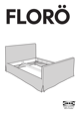 IKEA FLORO BED FRAME FULL, QUEEN & KING Assembly Instruction - 1