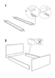 IKEA FLORO BED FRAME FULL, QUEEN & KING Assembly Instruction - 5
