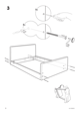 IKEA FLORO BED FRAME FULL, QUEEN & KING Assembly Instruction - 6