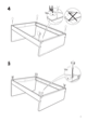 IKEA FLORO BED FRAME FULL, QUEEN & KING Assembly Instruction - 7