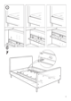 IKEA FLORO BED FRAME FULL, QUEEN & KING Assembly Instruction - 9