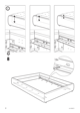 IKEA GRIMEN BED FRAME FULL & QUEEN Assembly Instruction - 8
