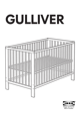 "IKEA GULLIVER CRIB 27 1/2X52"" Assembly Instruction - 1"