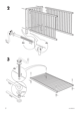 "IKEA GULLIVER CRIB 27 1/2X52"" Assembly Instruction - 4"