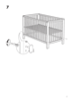 "IKEA GULLIVER CRIB 27 1/2X52"" Assembly Instruction - 7"