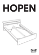 IKEA HOPEN BED FRAME FULL/DOUBLE Assembly Instruction - 1