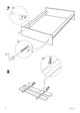 IKEA HOPEN BED FRAME FULL/DOUBLE Assembly Instruction - 8