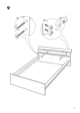 IKEA HOPEN BED FRAME FULL/DOUBLE Assembly Instruction - 9