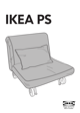 IKEA IKEA PS CHAIR BED COVER Assembly Instruction - 1